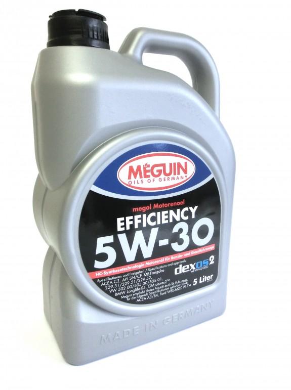 MEGUIN megol Motorenöl Efficiency SAE 5W-30 5 Liter (6,20€/ l)