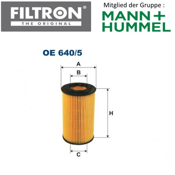 Ölfilter FILTRON OE640/5
