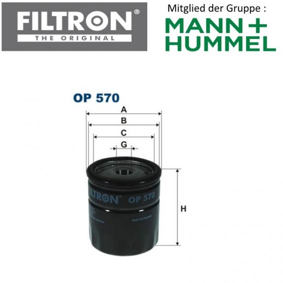 Ölfilter FILTRON OP570