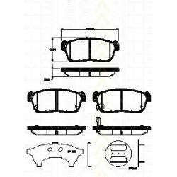 Bremsbelagsatz TRISCAN für Suzuki Alto V 1.0