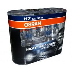 OSRAM H7 Night Breaker Unlimited 64210NBU für 110% mehr Licht (2 Stück)