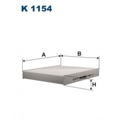1 Stück K1154 Innenraumfilter