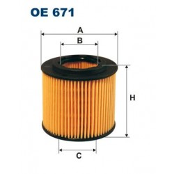 1 Stück OE671 Ölfilter