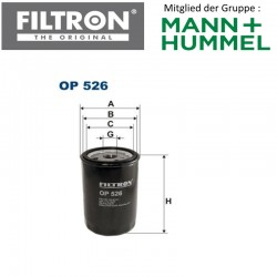 Ölfilter FILTRON OP526