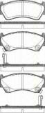 Bremsbelagsatzsatz Vorderachse TRISCAN für Nissan Almera I Hatchback 1.4 SGXLX
