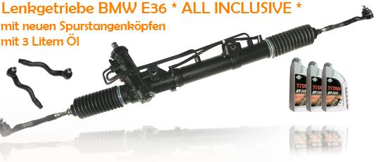 Lenkgetriebe BMW Serie 3 E46 mit neuen Spurstangenköpfen + Hydrauliköl